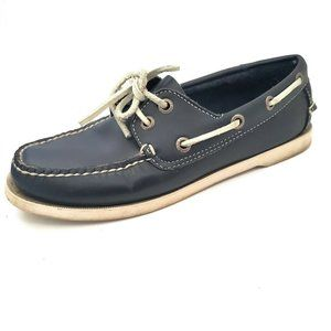 LL Bean Womens Boat Shoes Loafers Leather Flats 7